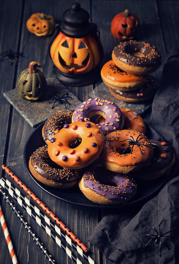 Halloweeen donuts royalty free stock image