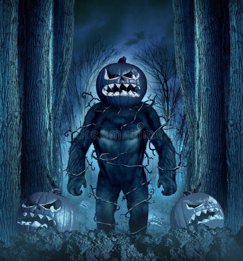 Halloween-Übel-Monster lizenzfreie abbildung