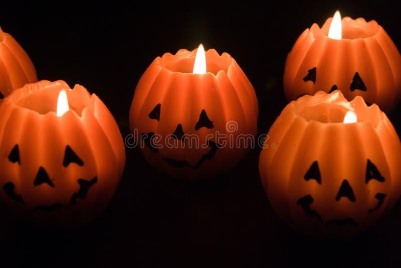 Halloween świece. zdjęcie royalty free