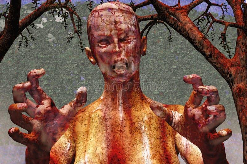 halloween żywy trup ilustracji
