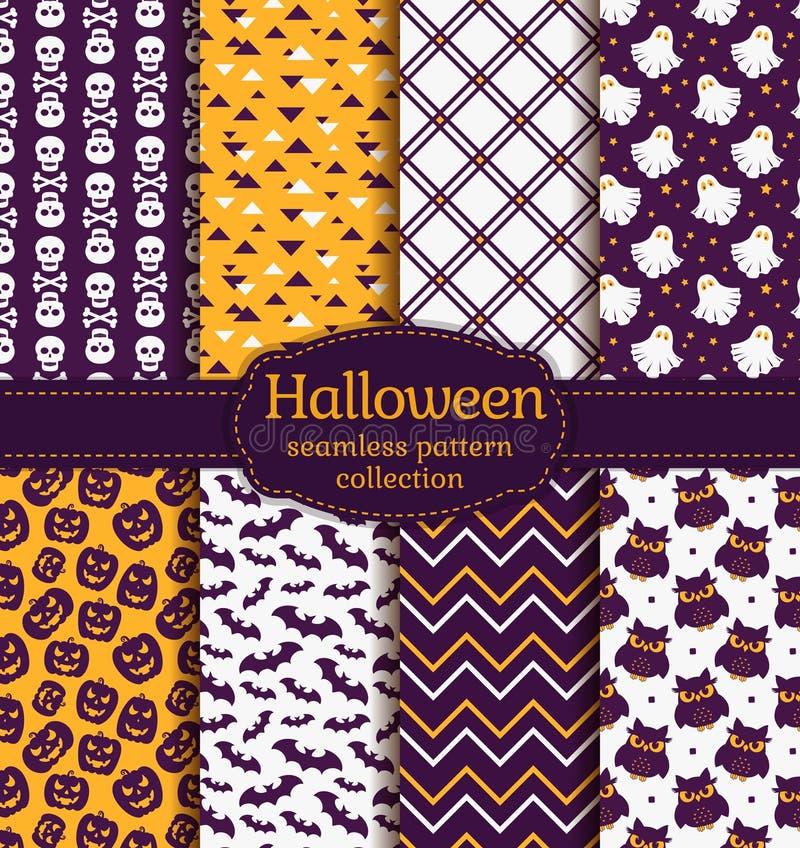 halloween делает по образцу безшовное вектор комплекта сердец шаржа приполюсный иллюстрация штока
