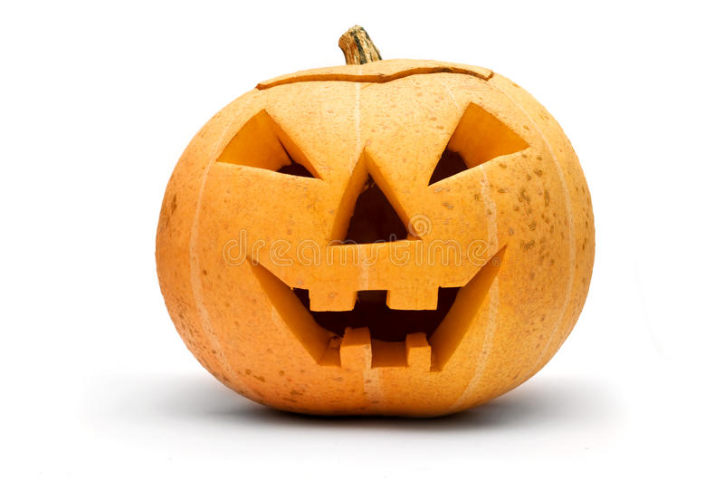 halloween изолировал тыкву стоковая фотография