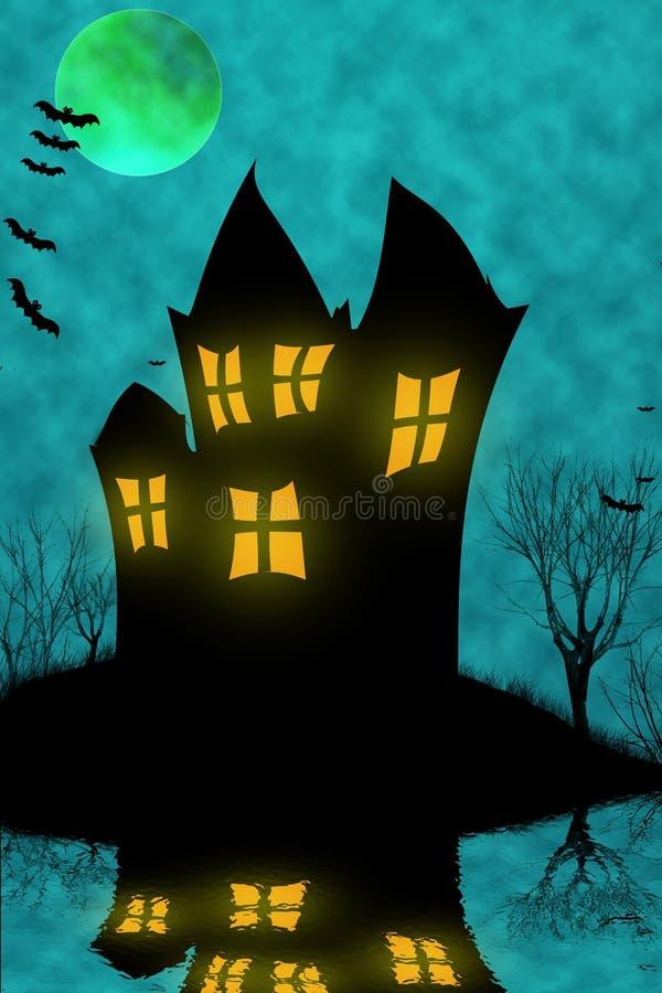 halloween преследовал дом стоковые фото