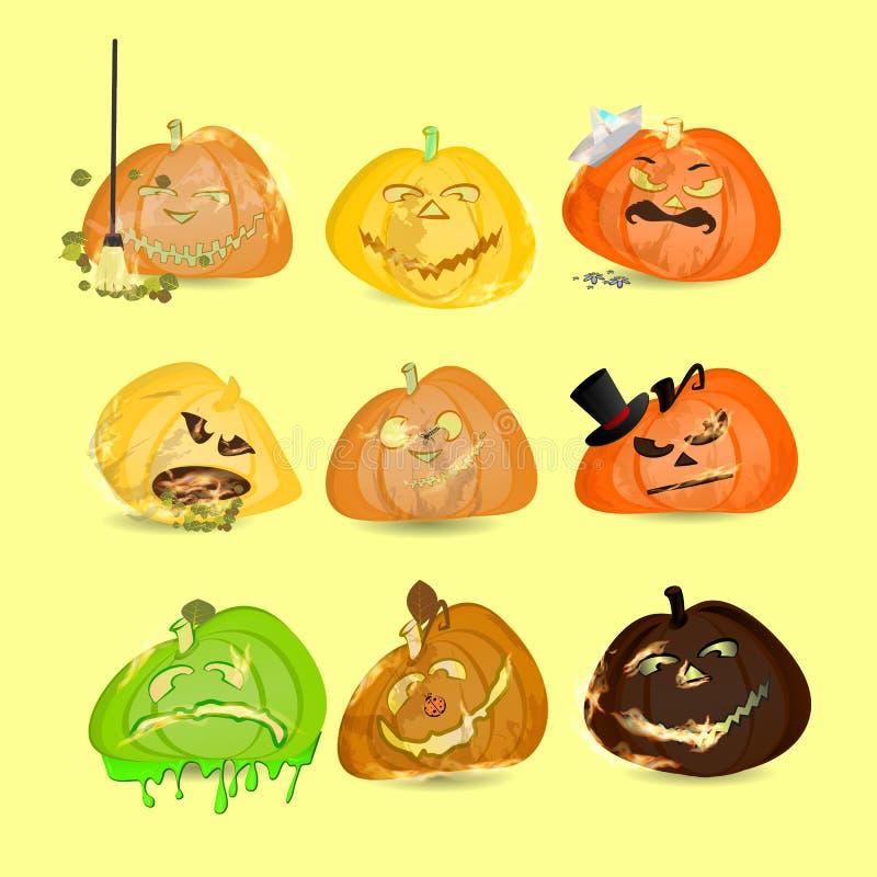 halloween Собрание тыкв Комплект бесплатная иллюстрация