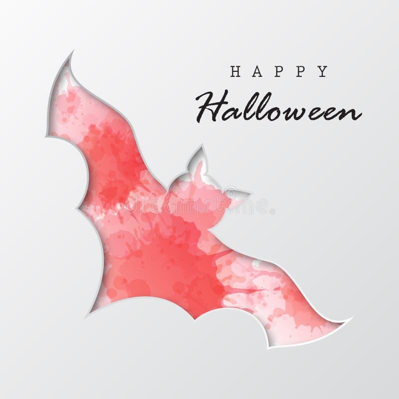 halloween счастливый batavia стиль отрезка бумаги иллюстрация вектора