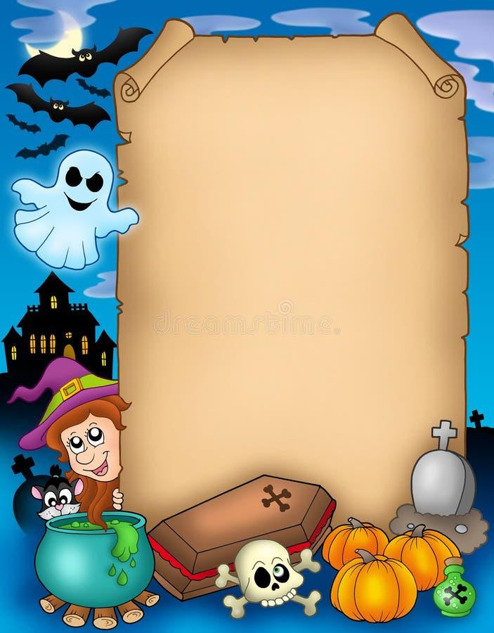 Halloween (1) pergamin ilustracji