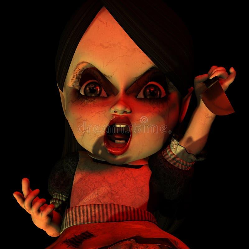 Halloween 15 lalki. royalty ilustracja