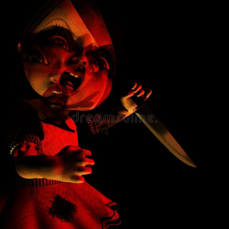 Halloween 17 laleczko, przeszywał ilustracja wektor