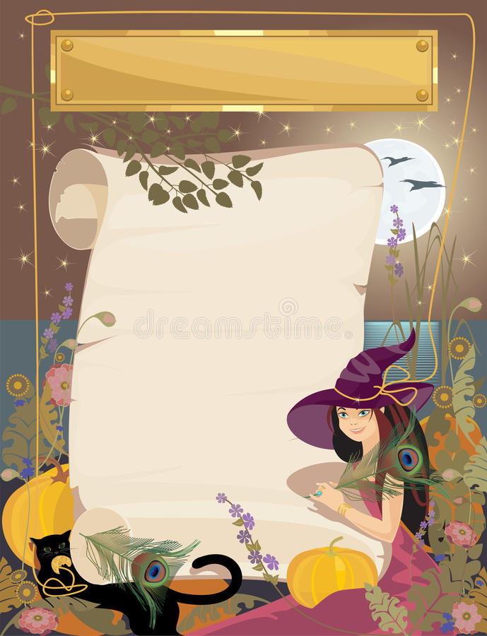 Download Halloween stock vector. Image of paper, roll, young, witch - 21295498