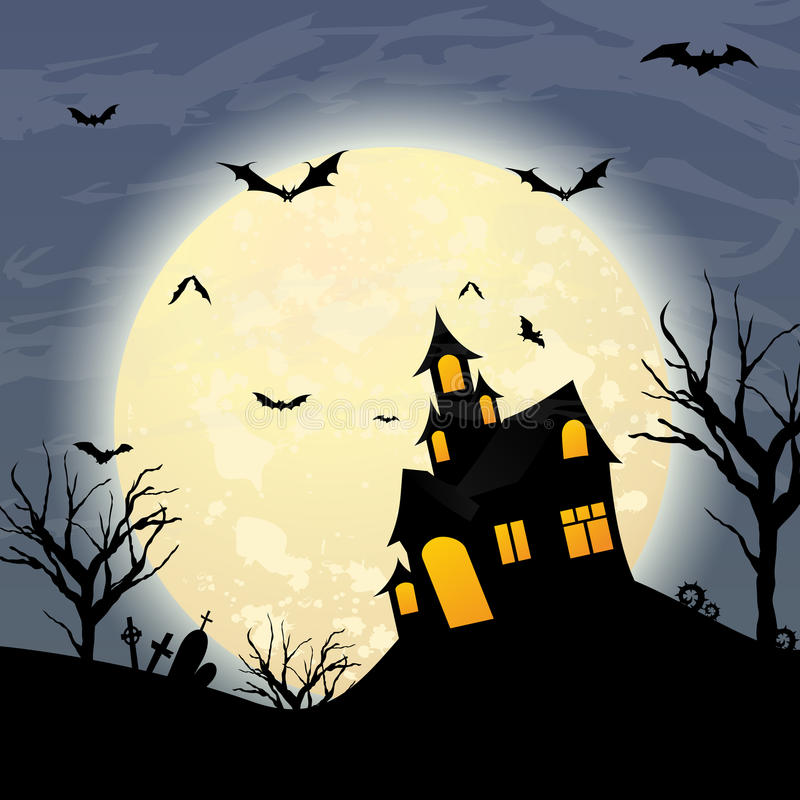 Halloween. Night themed illustration. An additional Vector .Ai file available. (you can use elements separately