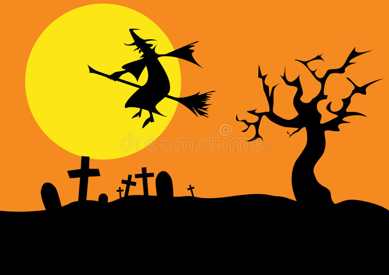 Download Halloween stock vector. Image of moon, black, window - 26627281