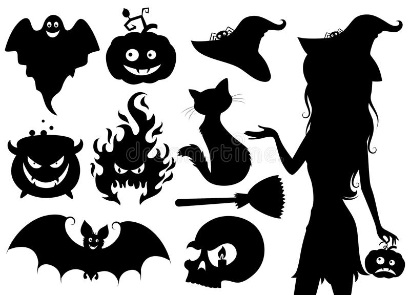 Halloween. royaltyfri illustrationer