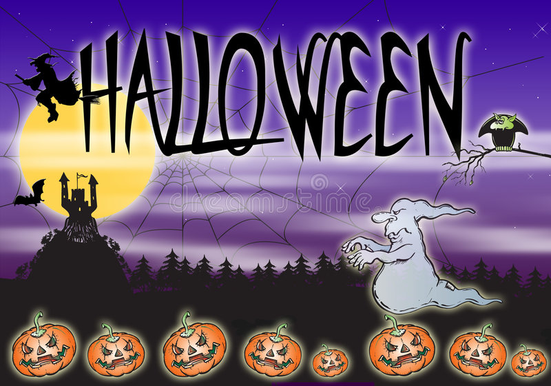 Download Halloween stock illustration. Image of dark, happiness - 2990862
