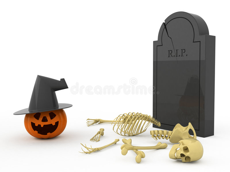 Download Halloween stock illustration. Image of gravestone, ghost - 3310583