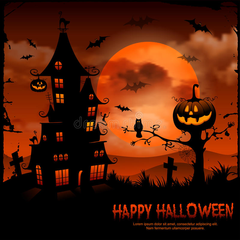 Halloween illustration stock