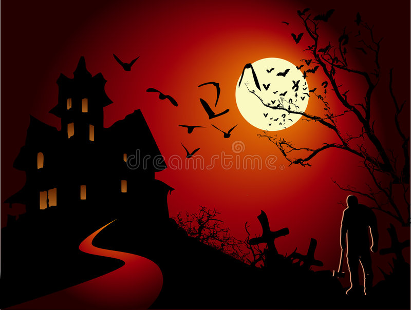 Download Halloween stock vector. Image of halloween, forest, illustration - 6652767
