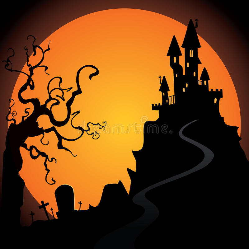 Download Halloween stock vector. Image of orange, card, background - 34548639