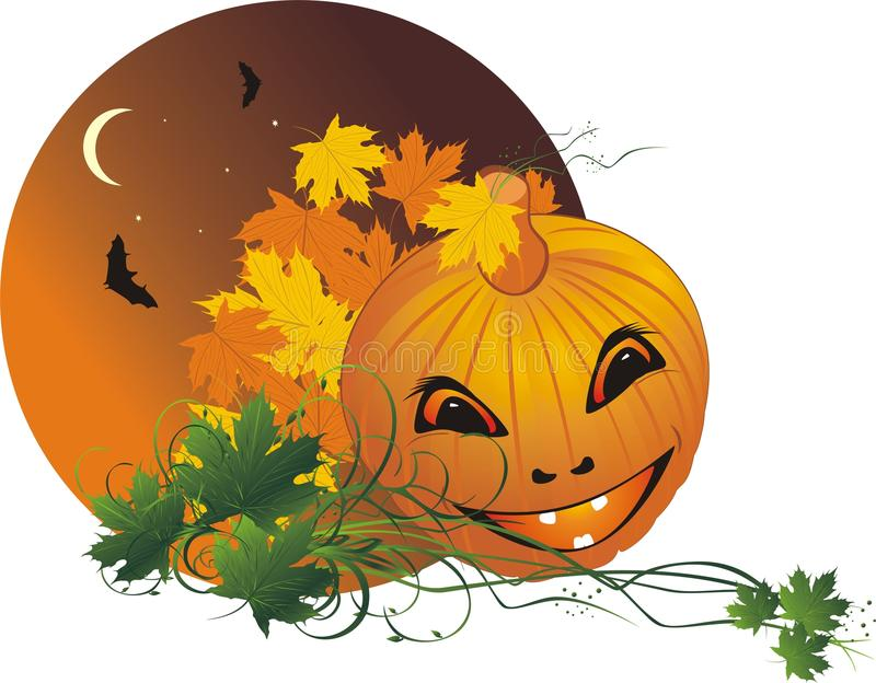 Halloween. Abstract composition for sticker royalty free illustration
