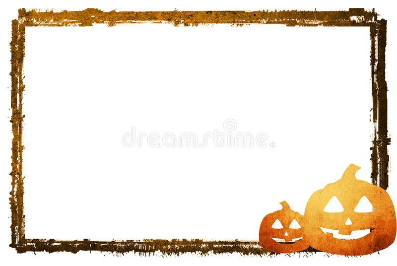Halloween abstract frame royalty free illustration
