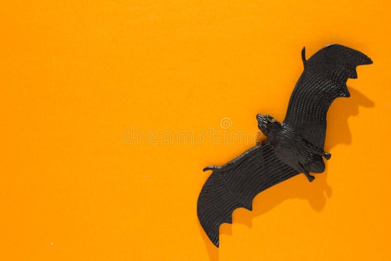 Halloween-achtergrondconcept Hoogste mening van zwarte knuppel grafische elft stock afbeeldingen