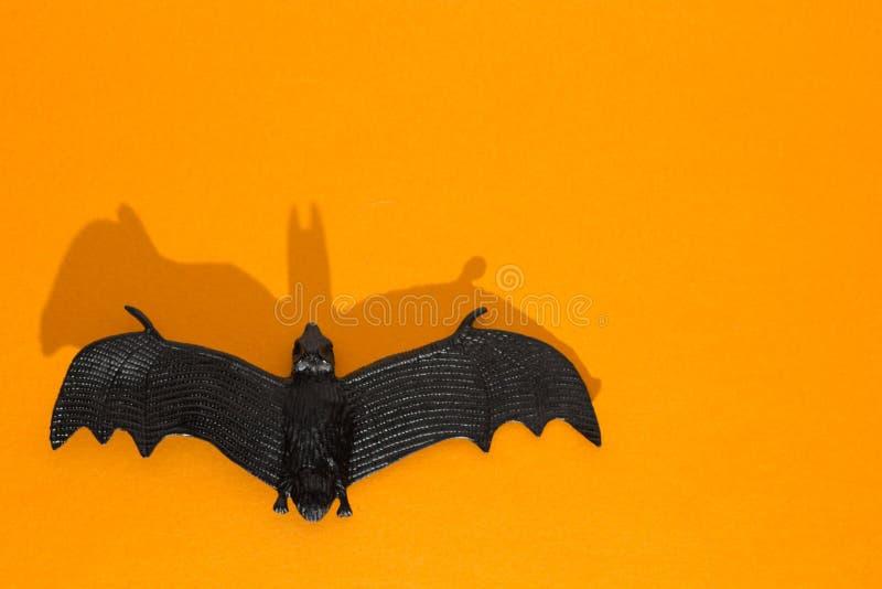 Halloween-achtergrondconcept Sluit omhoog van zwarte knuppel grafische elft stock fotografie