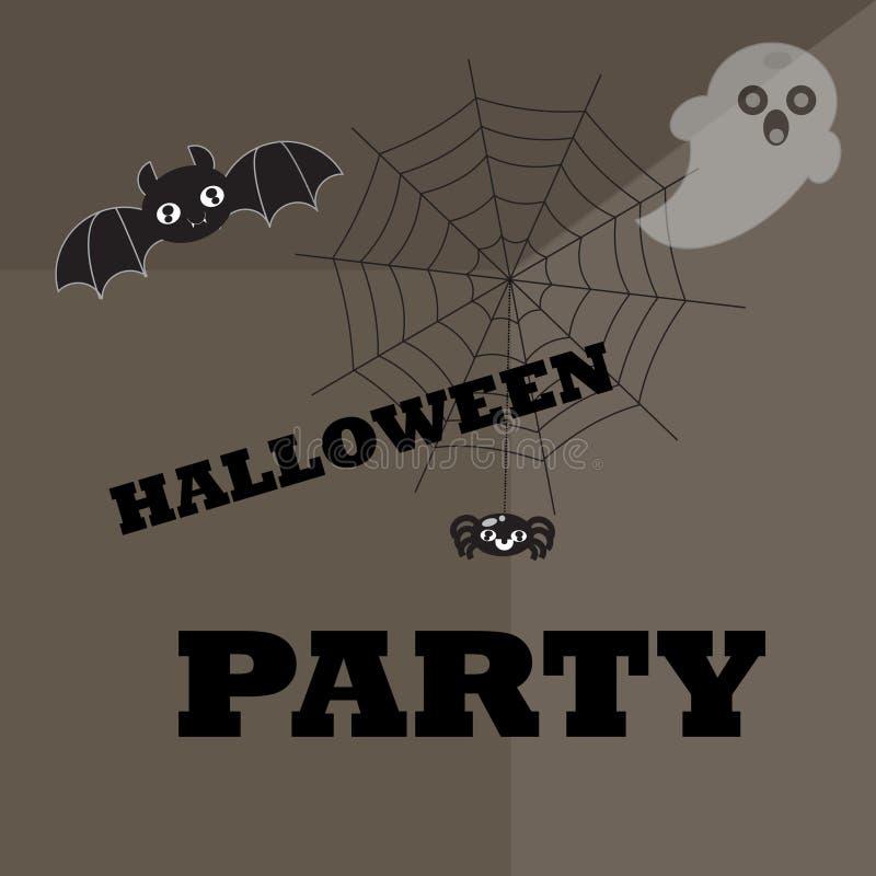 Halloween-affiche, achtergrond vector illustratie