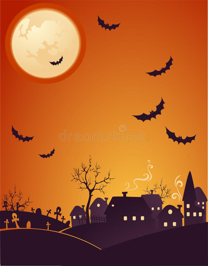 Halloween alaranjado ilustração stock