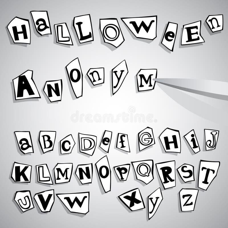 Download Halloween Anonymous Alphabet Stock Illustration - Illustration of cutout, crime: 16888674