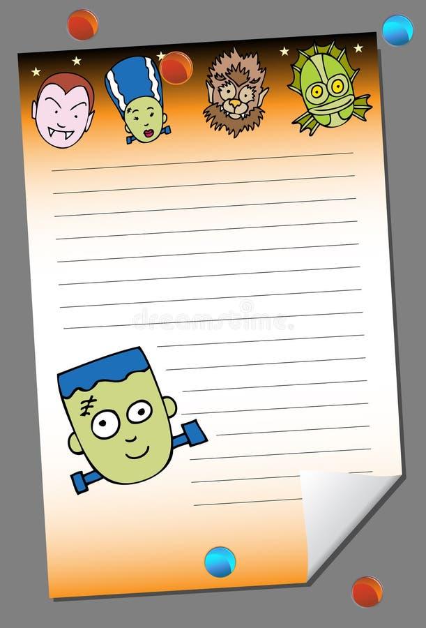 halloween anteckningsbok stock illustrationer
