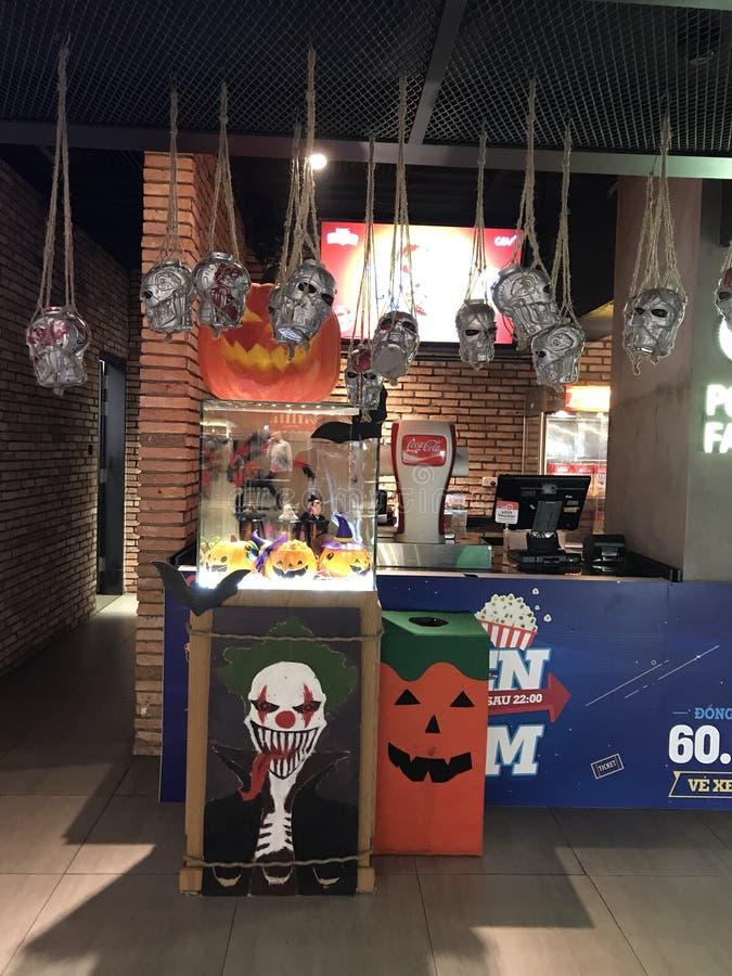 Halloween-Anzeige an CGV stockfotografie