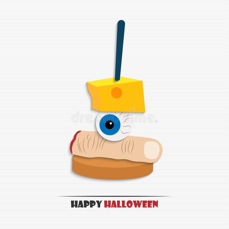 Halloween aperitif vektor abbildung illustration von for Vector canape download