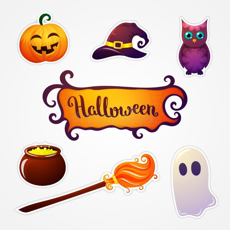Halloween art illustration. vector illustration