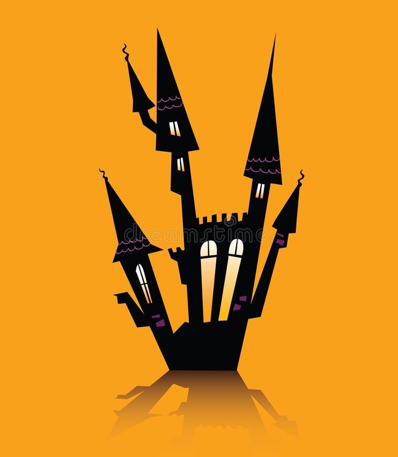 Halloween assombrou a casa ilustração royalty free