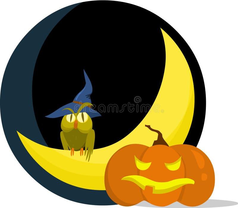 Halloween assustador ilustração stock