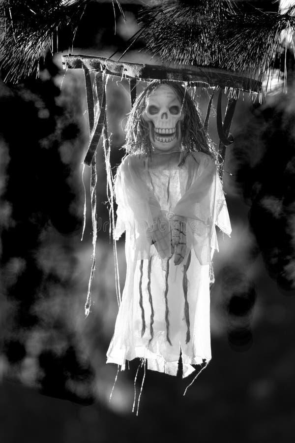 Halloween assustador no BW fotografia de stock royalty free