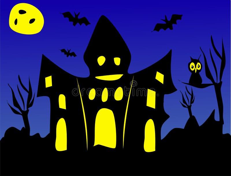 Halloween asustadizo o casa encantada libre illustration