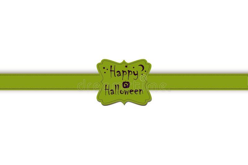 Halloween-Attribute - Band und Aufkleber lizenzfreie abbildung