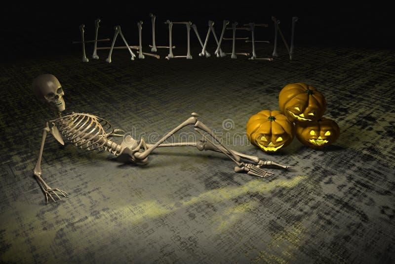 Halloween-Aufenthaltsraum 2 lizenzfreie abbildung