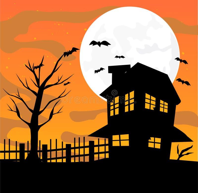 Halloween-Auslegungabbildung lizenzfreie abbildung