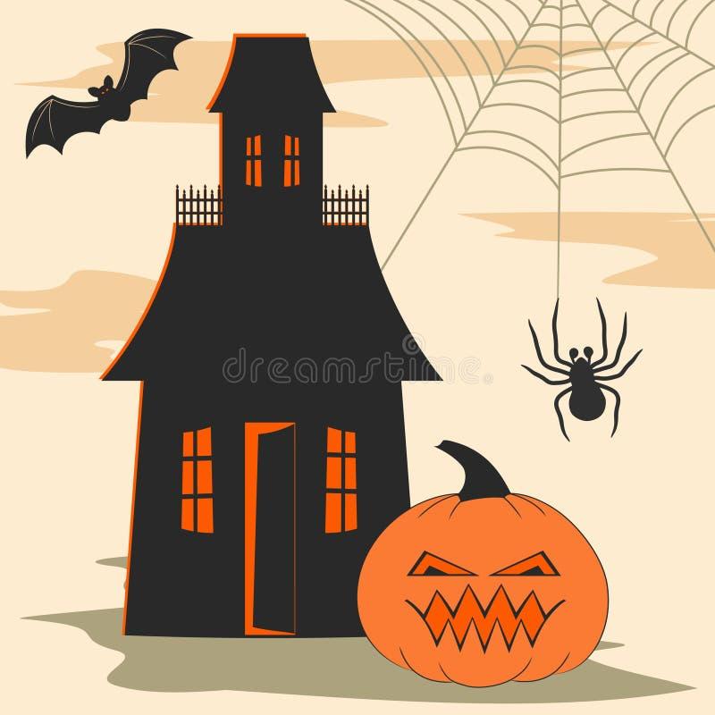 Halloween-Auslegungelemente stock abbildung
