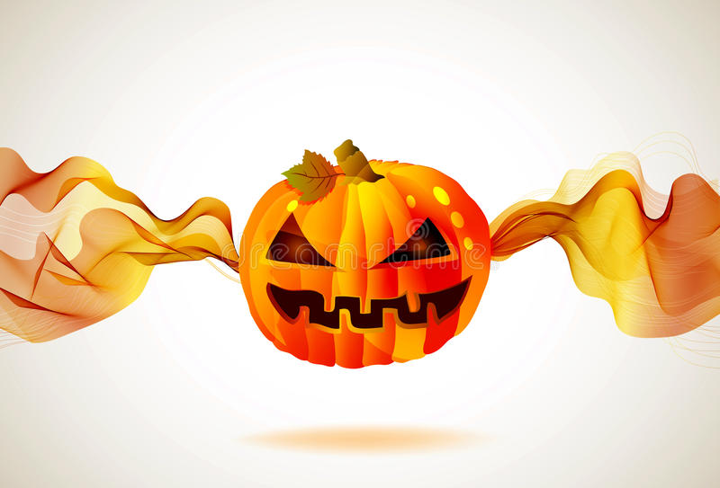 Download Halloween Autumn Background With Pumpkin Stock Illustration - Image: 26430666