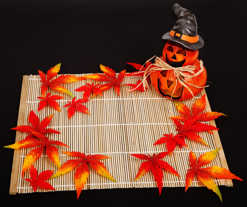 Halloween autumn decoration stock image