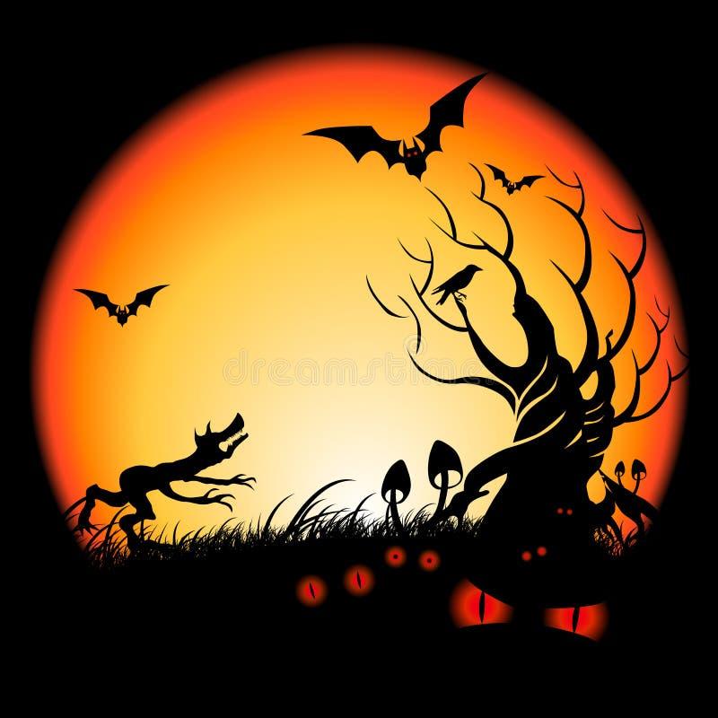 Halloween bös vektor abbildung