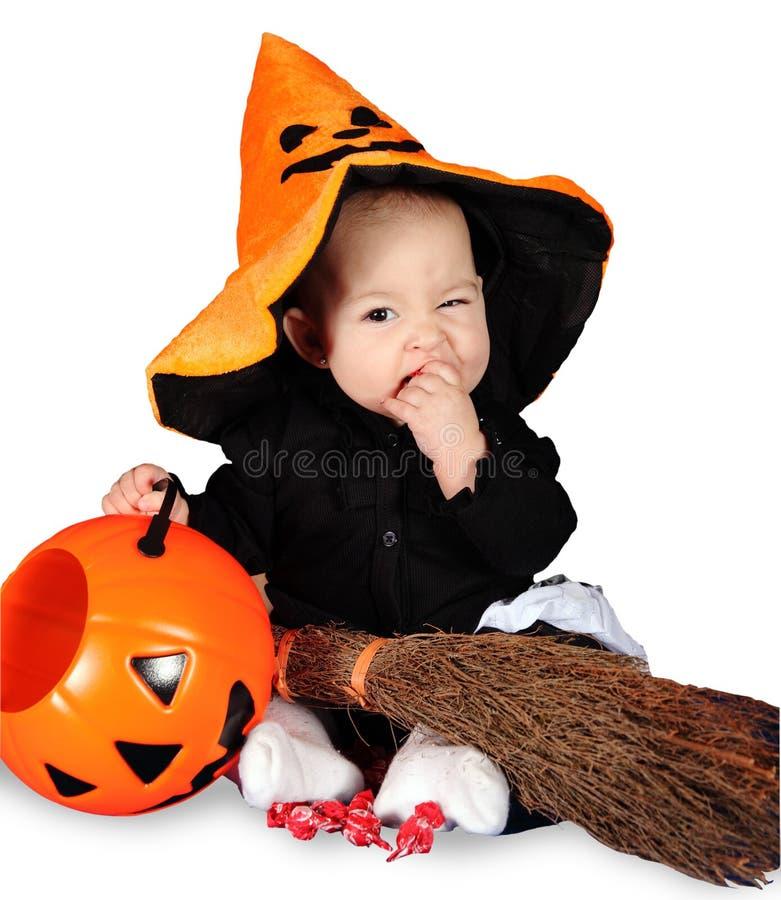 Halloween-Baby lizenzfreie stockfotos