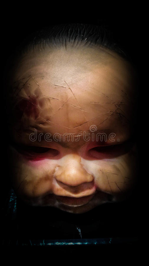 Halloween Baby Head royalty free stock image