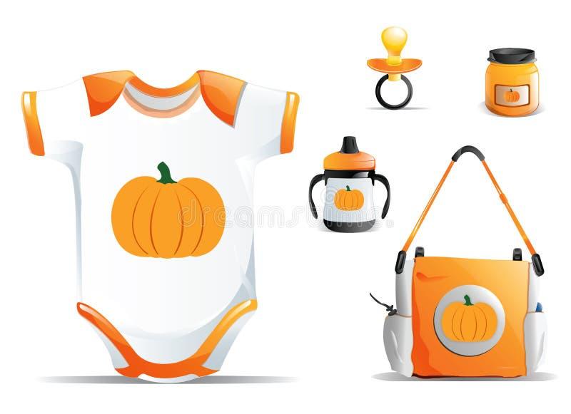 Halloween Baby Set vector illustration
