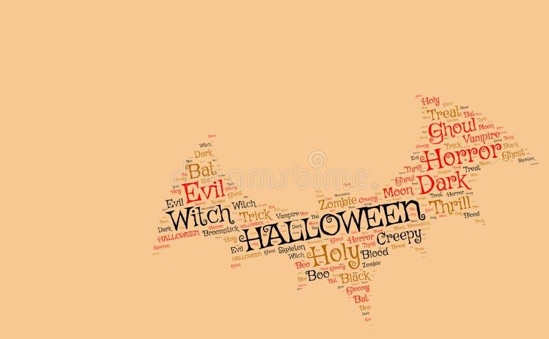 Halloween backgroun: knuppel van enge woorden wordt gemaakt dat stock foto's
