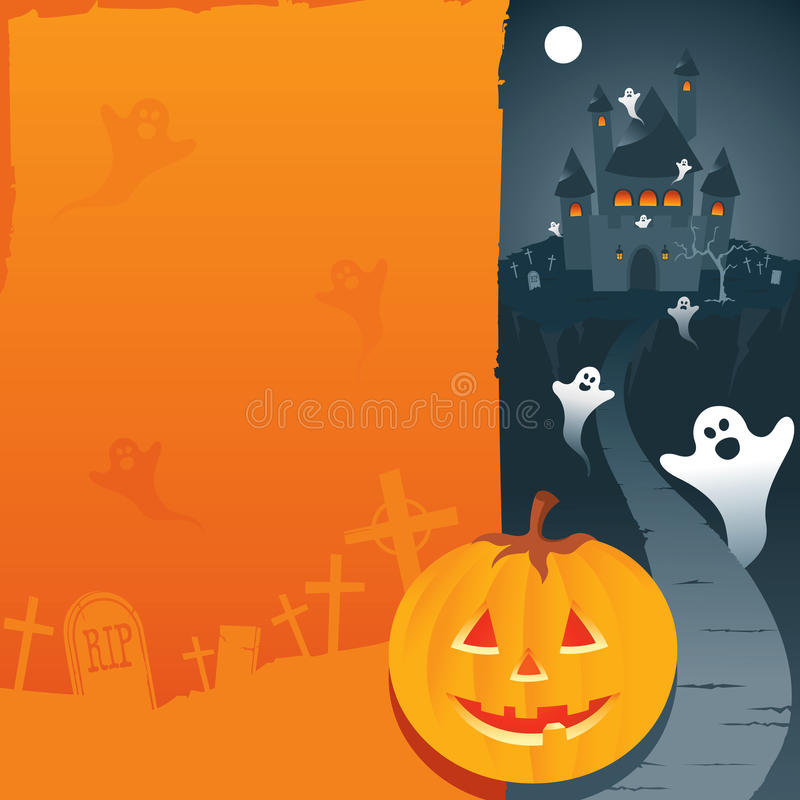 Download Halloween background stock vector. Image of moon, holiday - 10542909