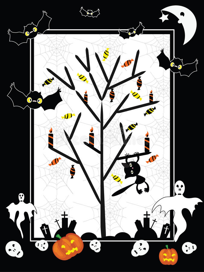 Download Halloween background stock vector. Image of invitation - 20905516