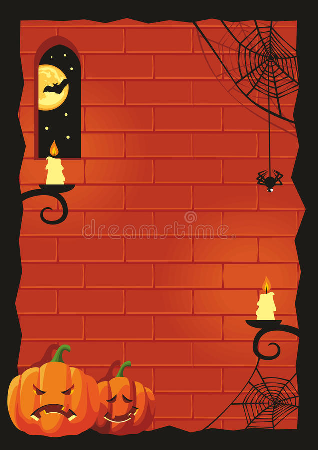 Download Halloween background stock vector. Image of wall, night - 25708050